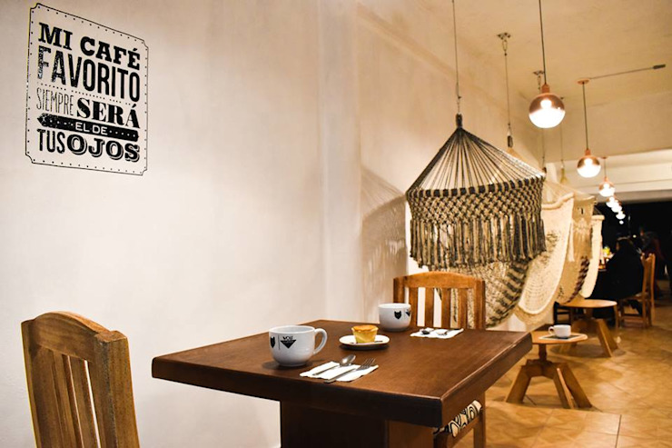 luis arq Industrial style dining room