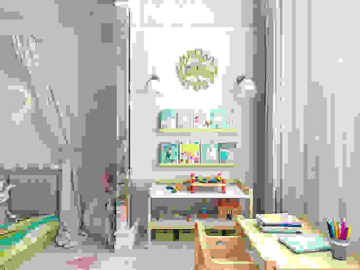 Квартира в Москве Детские комната в эклектичном стиле от #martynovadesign Эклектичный