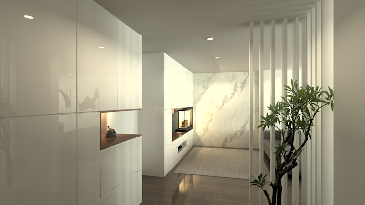 Modern Koridor, Hol & Merdivenler QOTDA Design Modern