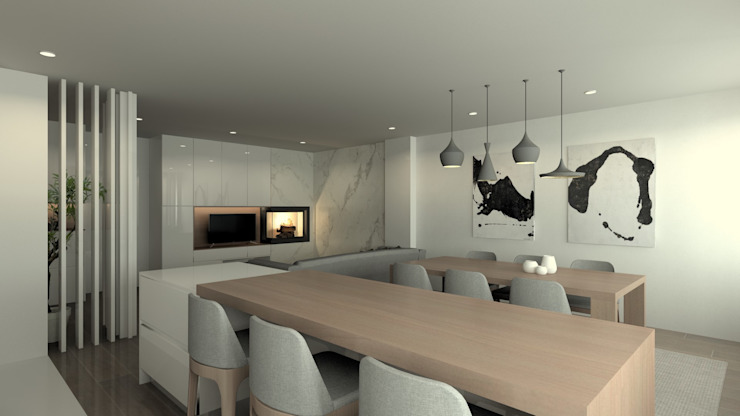 Modern dining room by QOTDA Design Modern