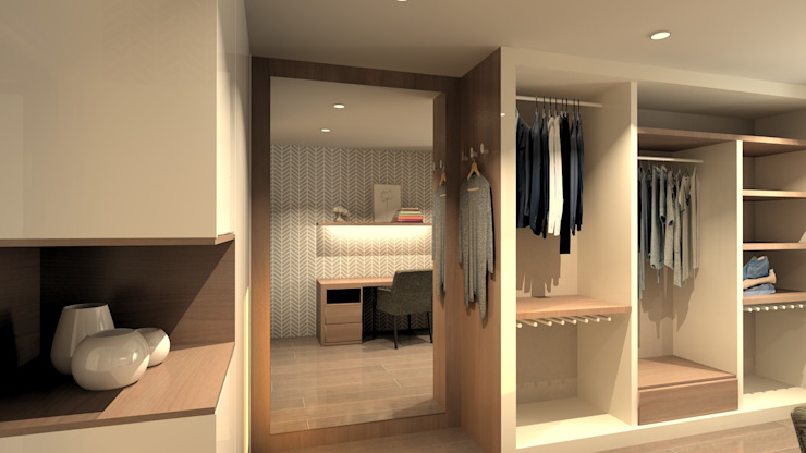 Modern dressing room by QOTDA Design Modern