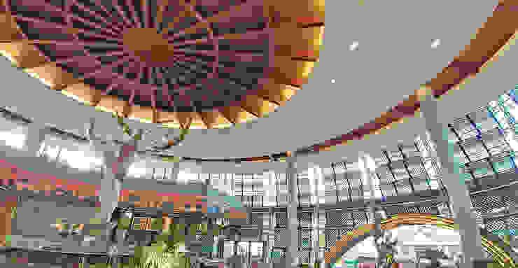 Interior - Lobby Area Ruang Komersial Tropis Oleh PHL Architects Tropis
