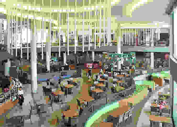 Interior - Restaurant Ruang Komersial Tropis Oleh PHL Architects Tropis