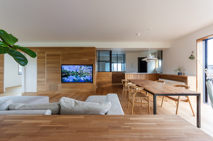 一級建築士事務所haus Salones de estilo escandinavo