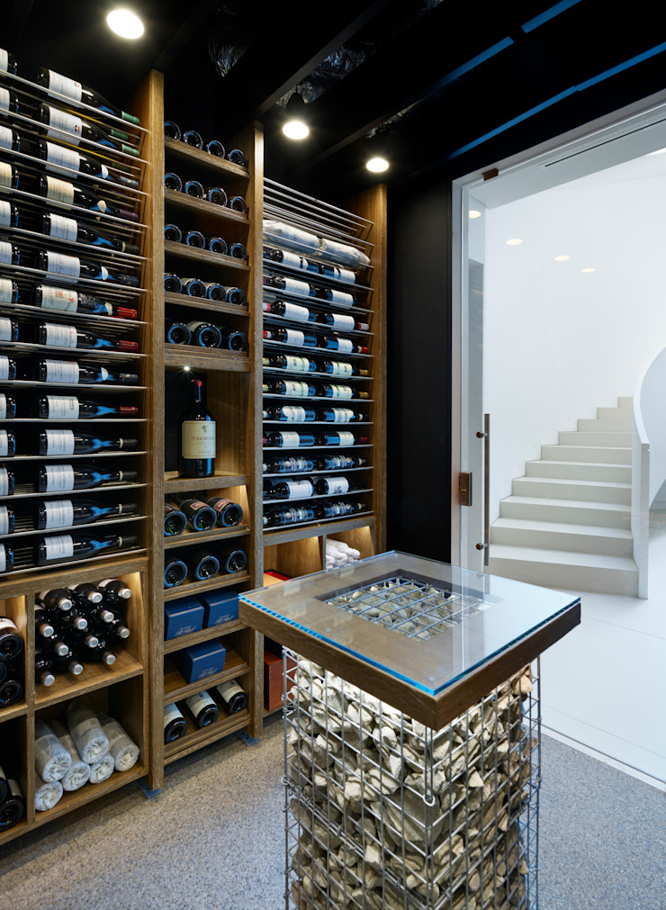 Wine Rooms & Wine Walls Modern Şarap Mahzeni Spiral Cellars Modern