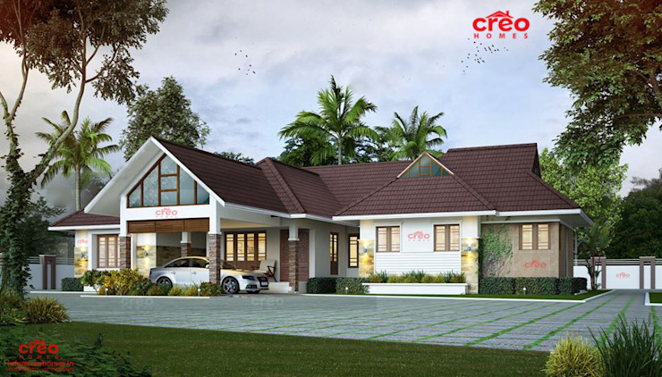 Top ten Home designers in Kerala Asian style houses by Creo Homes Pvt Ltd Asian