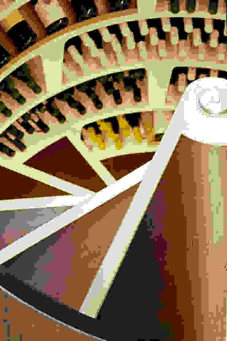 Leather stair treads Modern wine cellar by Spiral Cellars Modern