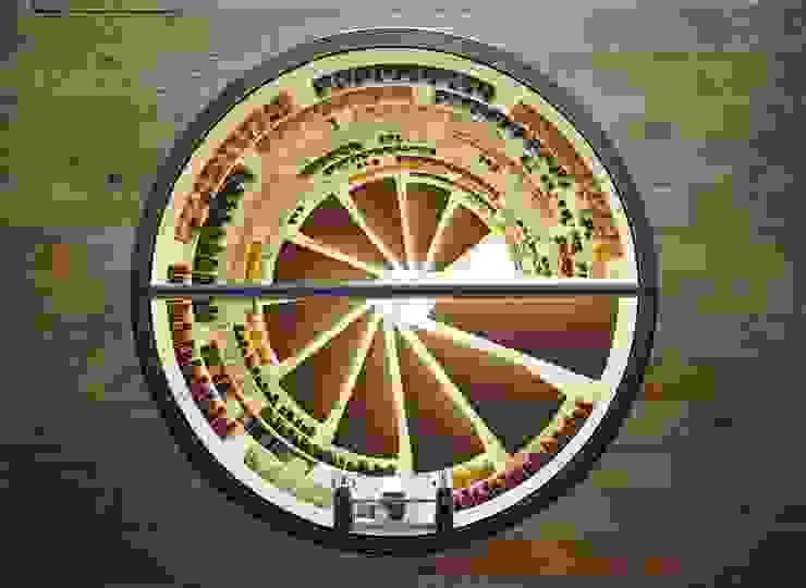 Top shot of White Spiral Cellar Modern wine cellar by Spiral Cellars Modern