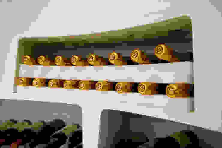 Neck Supports for Spiral Cellar Modern wine cellar by Spiral Cellars Modern