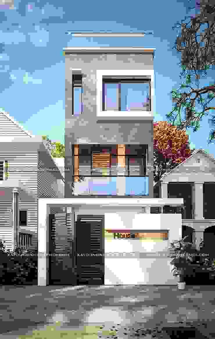 Những mẫu mặt tiền nhà ống đẹp 3 tầng hiện đại bởi Công ty xây dựng nhà đẹp mới