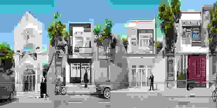 Các mẫu mặt tiền nhà ống 2 tầng đẹp bởi Công ty xây dựng nhà đẹp mới