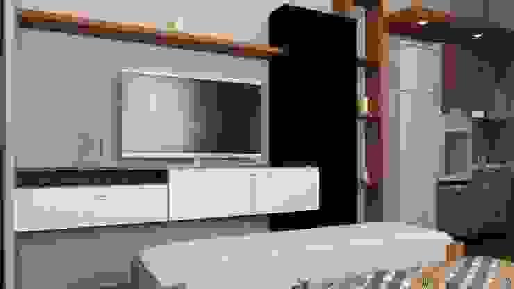 apartemen tipe studio Oleh HH Atelier Minimalis Batu Bata