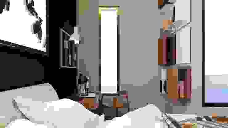 apartemen tipe studio Ruang Studi/Kantor Minimalis Oleh HH Atelier Minimalis Batu Bata