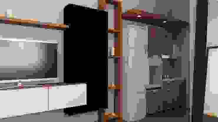 apartemen tipe studio Oleh HH Atelier Minimalis Kayu Wood effect