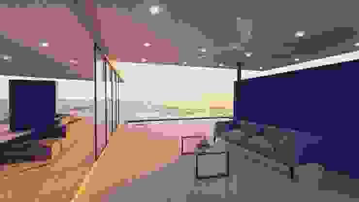 Salones de estilo moderno de Tiaan Botha Architecture & Associates Moderno