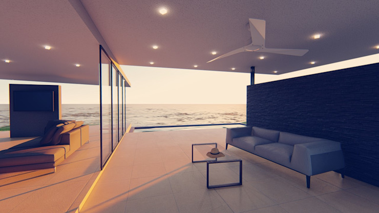 Outdoor Living Modern living room by Tiaan Botha Architecture & Associates Modern