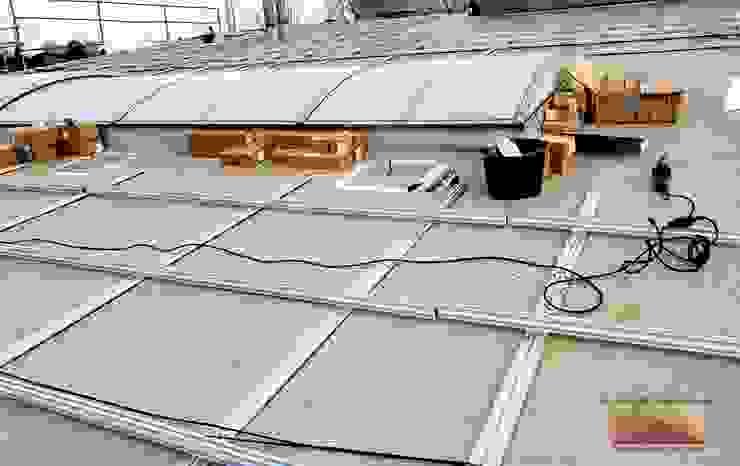 Bau Photovoltaikanlage in Leopoldshöhe Dachdeckermeisterbetrieb Dirk Lange Flachdach