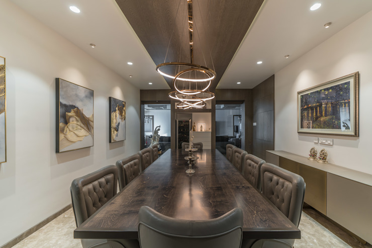 dining room Modern Dining Room by F.Quad Architecture and Interior Design Studio Modern