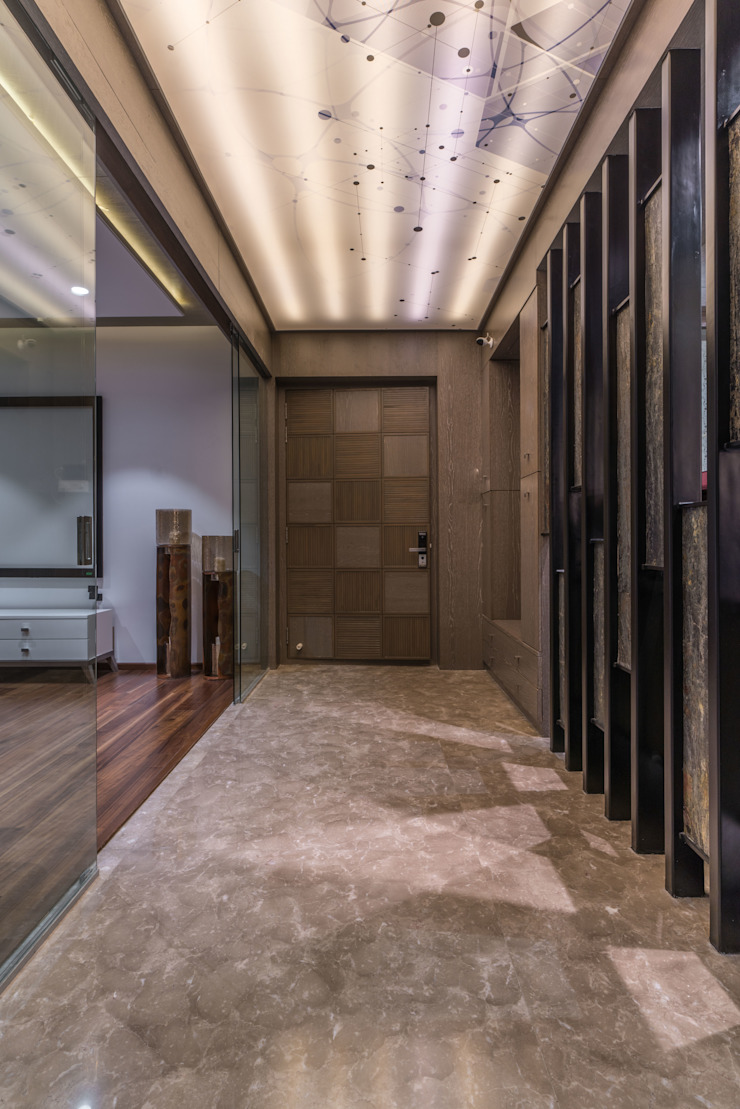 entry lobby Modern Corridor, Hallway and Staircase by F.Quad Architecture and Interior Design Studio Modern