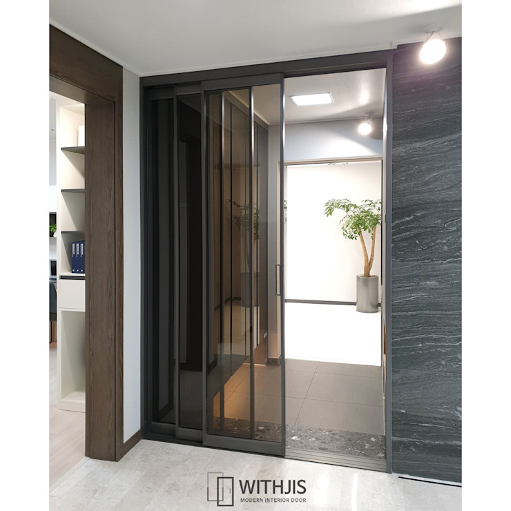 ALU-SD, 3연동 도어(1FIX+2SD) 모던스타일 거실 by WITHJIS(위드지스) 모던 알루미늄 / 아연
