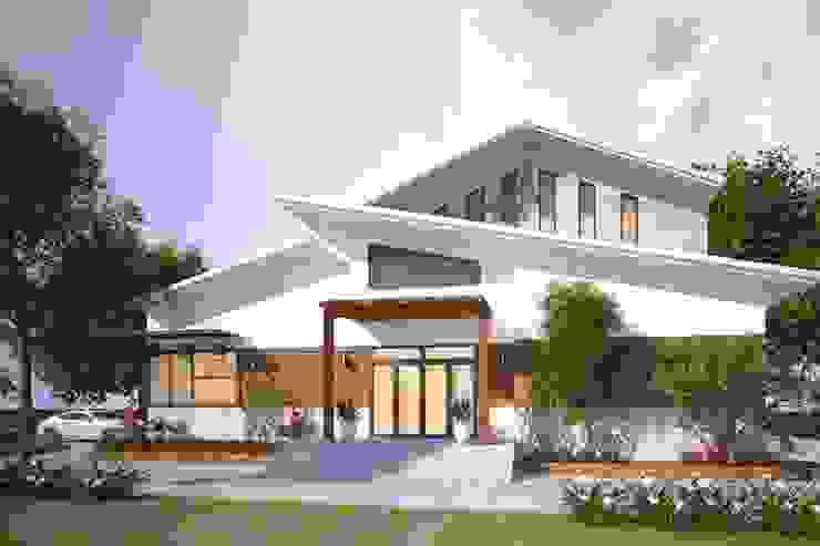 Các mẫu thiết kế biệt thự nhà vườn 2 tầng mới nhất 2019 bởi CÔNG TY CỔ PHẦN XD&TM KIẾN TẠO VIỆT Hiện đại