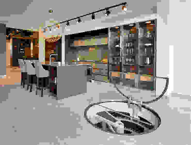 Underground Spiral Cellars Modern Şarap Mahzeni Spiral Cellars Modern