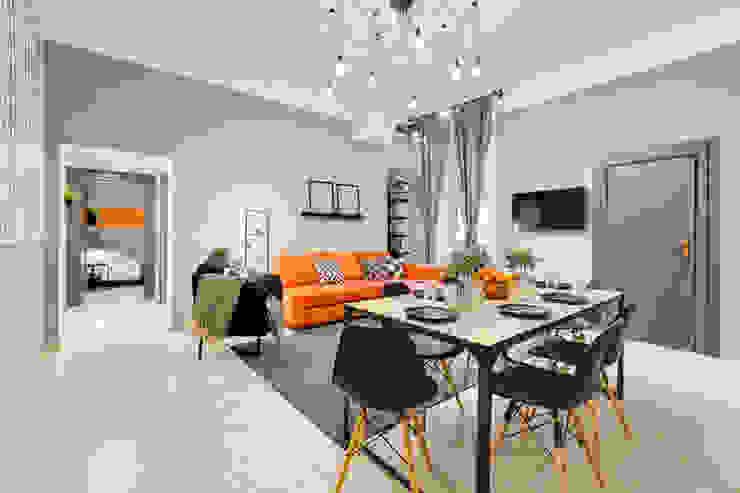 인더스트리얼 다이닝 룸 by Creattiva Home ReDesigner - Consulente d'immagine immobiliare 인더스트리얼