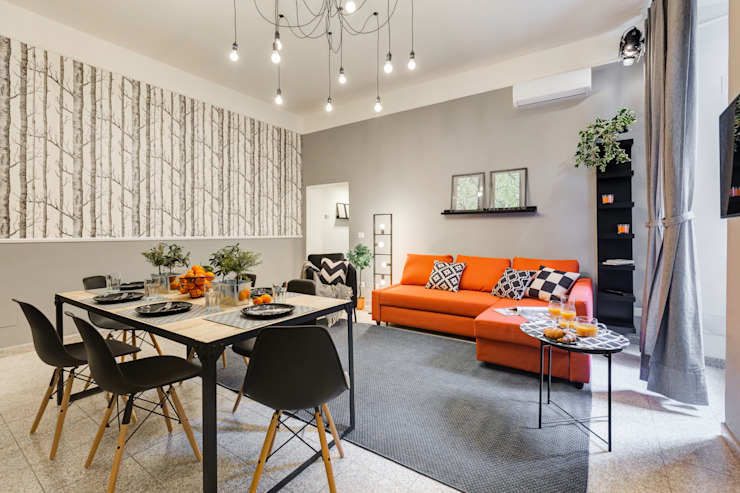 Comedores de estilo industrial de Creattiva Home ReDesigner - Consulente d'immagine immobiliare Industrial