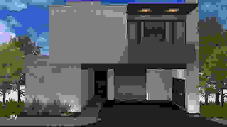 Fachada delantera VillaSi Construcciones Casas modernas