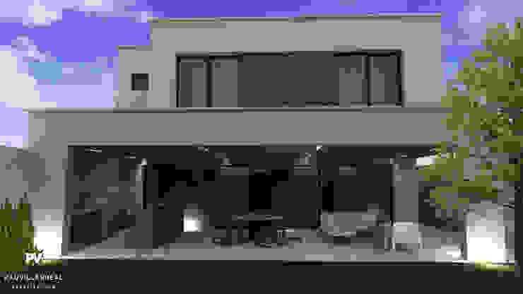 Fachada posterior VillaSi Construcciones Casas modernas
