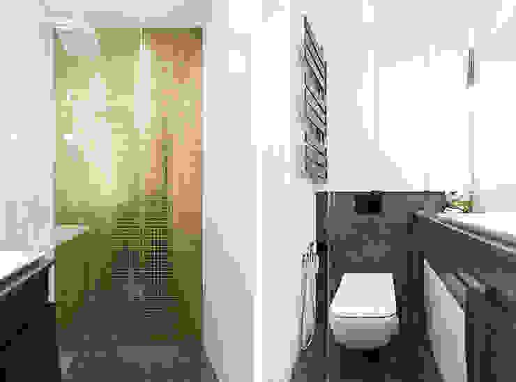 MMA Pracownia Architektury Modern Bathroom Silver/Gold Amber/Gold
