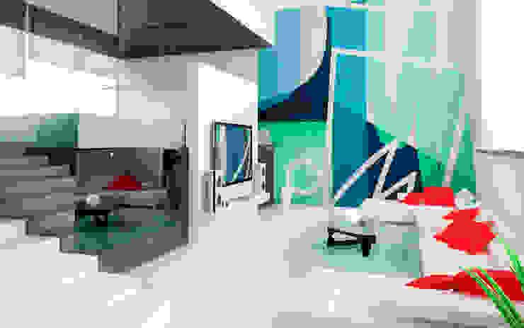 Mural para family room Arca México Livings de estilo moderno