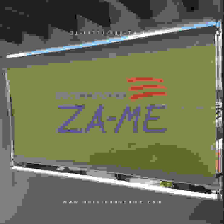 Persiana enrollable para exterior de Decoraciones ZA-ME Clásico Textil Ámbar/Dorado