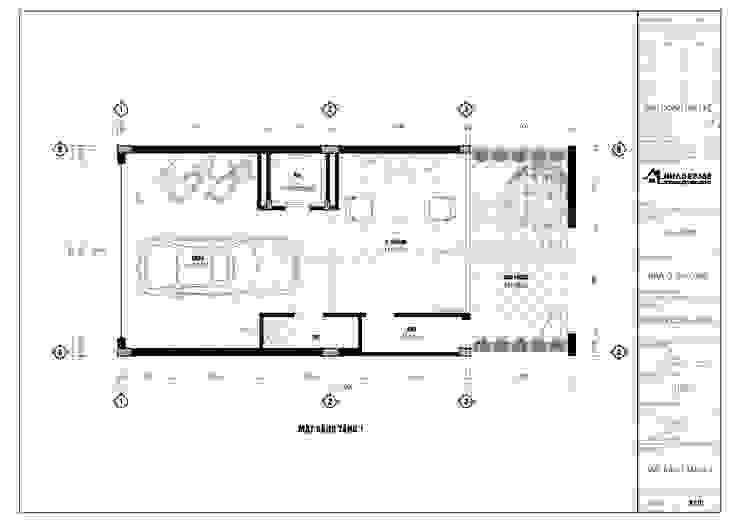 Thiết Kế Nhà Phố 5 Tầng Diện Tích 6×13m Hiện Đại Cổ Nhuế bởi THIẾT KẾ NHÀ ĐẸP 365 Hiện đại