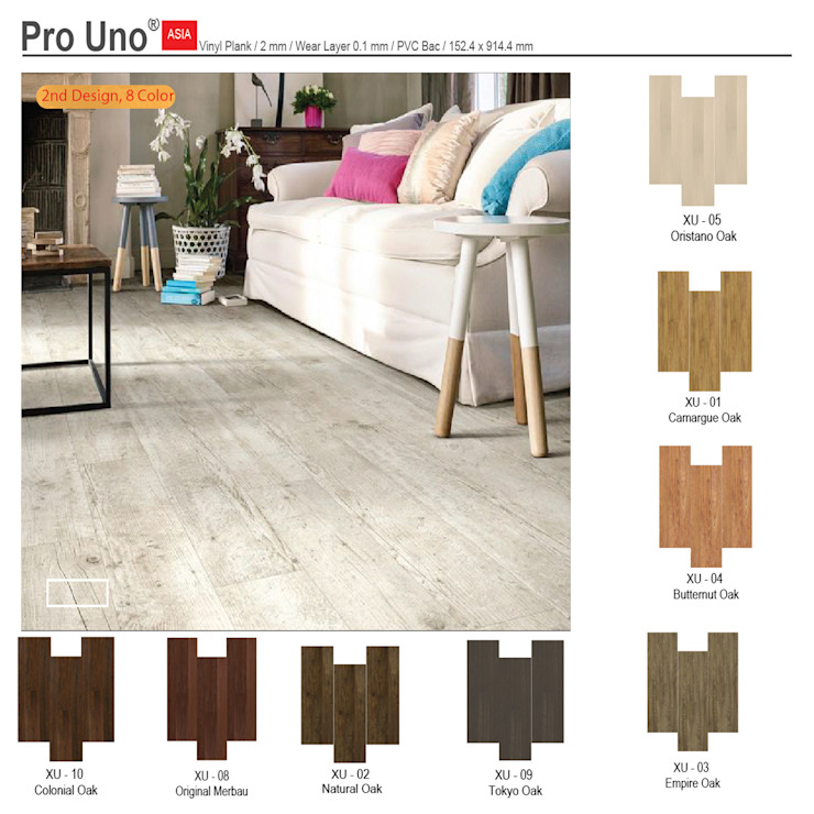 Vinyl Pro Uno Oleh Michafur Group & Co Minimalis Bahan Sintetis Brown