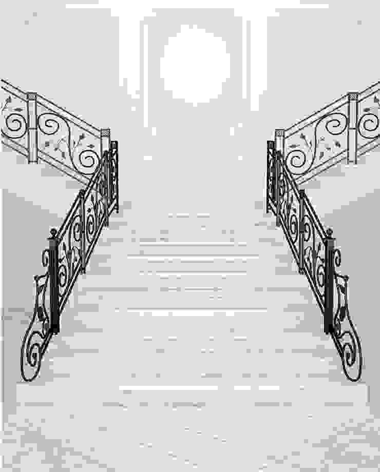 4. Một số ứng dụng thực tế đẹp ốp cầu thang bằng đá Marble: hiện đại  by Công ty TNHH truyền thông nối việt, Hiện đại