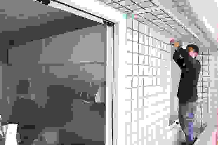 即使在牆外也要確實施工 鵝牌氣密窗-台中直營店