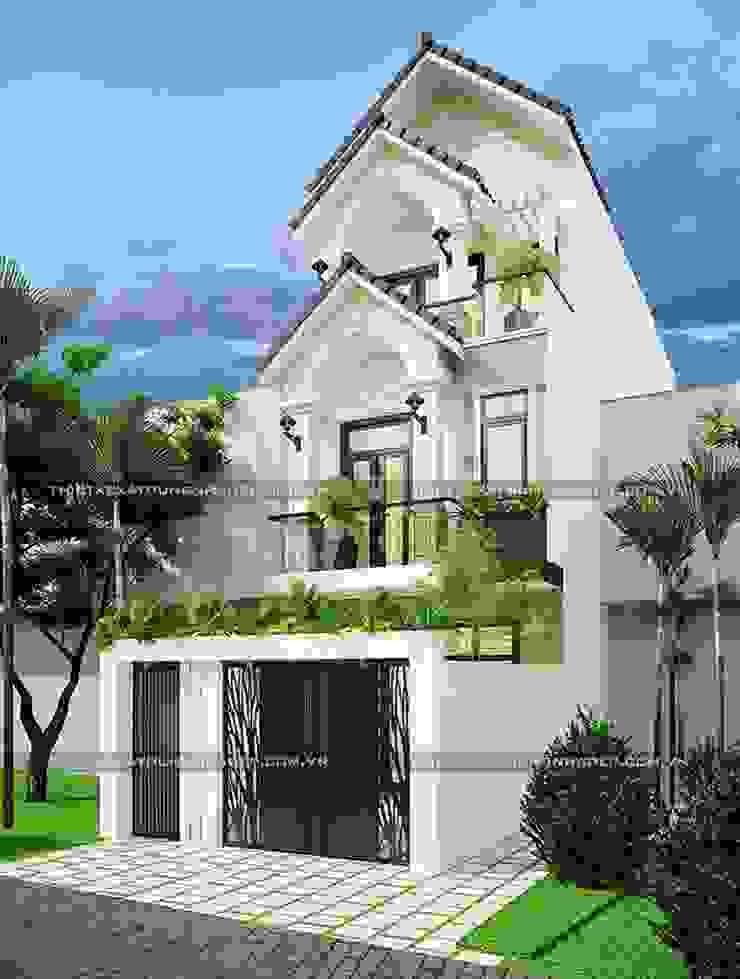 Những mẫu nhà ống đẹp 3 tầng hiện đại – lựa chọn hoàn hảo cho mọi gia đình bởi Công ty cổ phần tư vấn kiến trúc xây dựng Nam Long