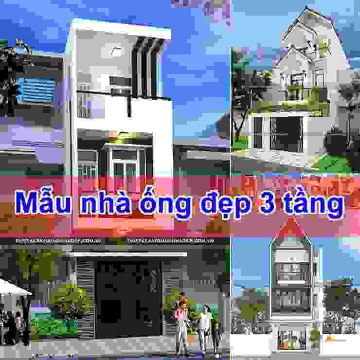 Những mẫu nhà ống đẹp 3 tầng hiện đại - lựa chọn hoàn hảo cho mọi gia đình bởi Công ty cổ phần tư vấn kiến trúc xây dựng Nam Long