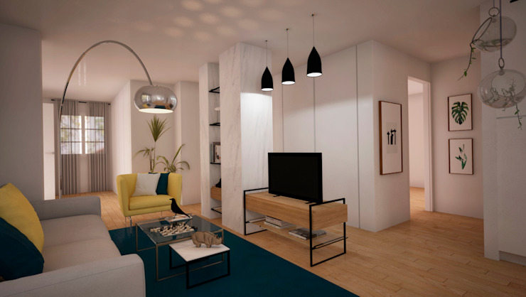 nowheresoon. estudio creativo en madrid 现代客厅設計點子、靈感 & 圖片 水泥 Multicolored