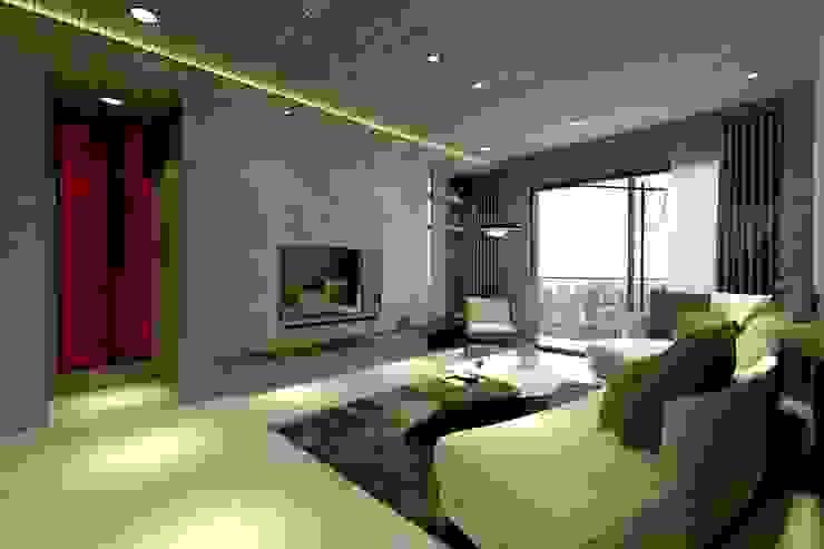 B設計之客廳 现代客厅設計點子、靈感 & 圖片 根據 青易國際設計 現代風