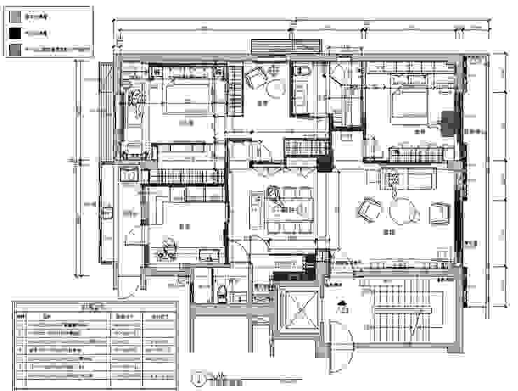 A設計之整體空間平面圖: 現代  by 青易國際設計, 現代風