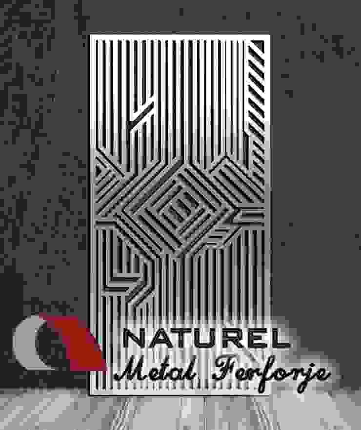 LAZER KESİM DEKORATİF EKRANLAR Modern Sergi Alanları NATUREL METAL FERFORJE Modern Metal