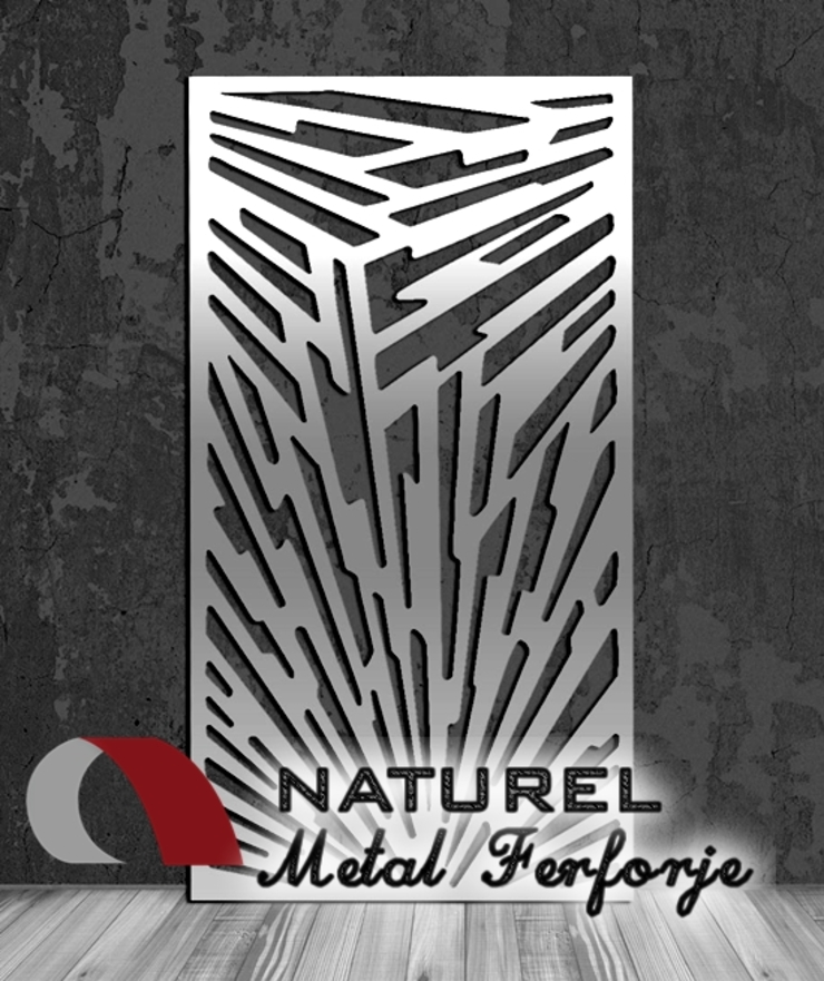 LAZER KESİM DEKORATİF EKRANLAR Modern Oto Galerileri NATUREL METAL FERFORJE Modern Metal