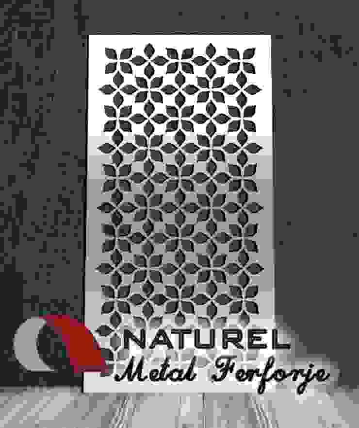 NATUREL METAL FERFORJE – LAZER KESİM DEKORATİF EKRANLAR : modern tarz , Modern Metal