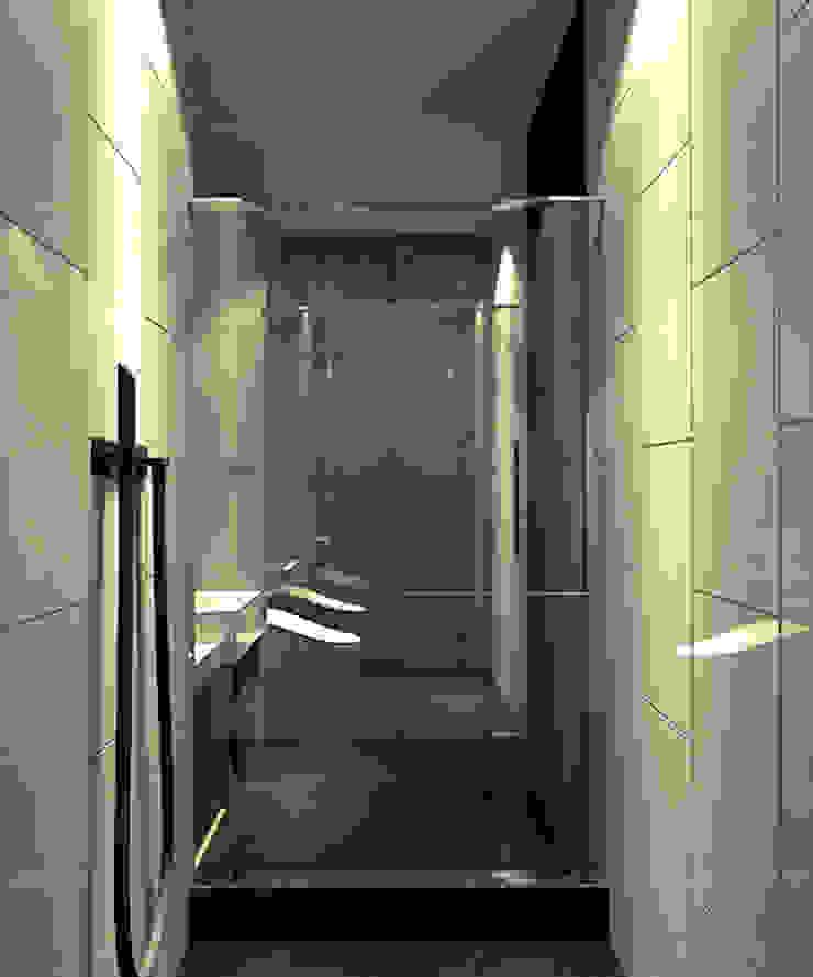 客衛 現代浴室設計點子、靈感&圖片 根據 青易國際設計 現代風