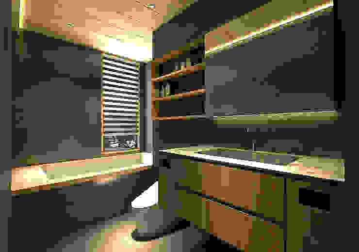 主衛 現代浴室設計點子、靈感&圖片 根據 青易國際設計 現代風