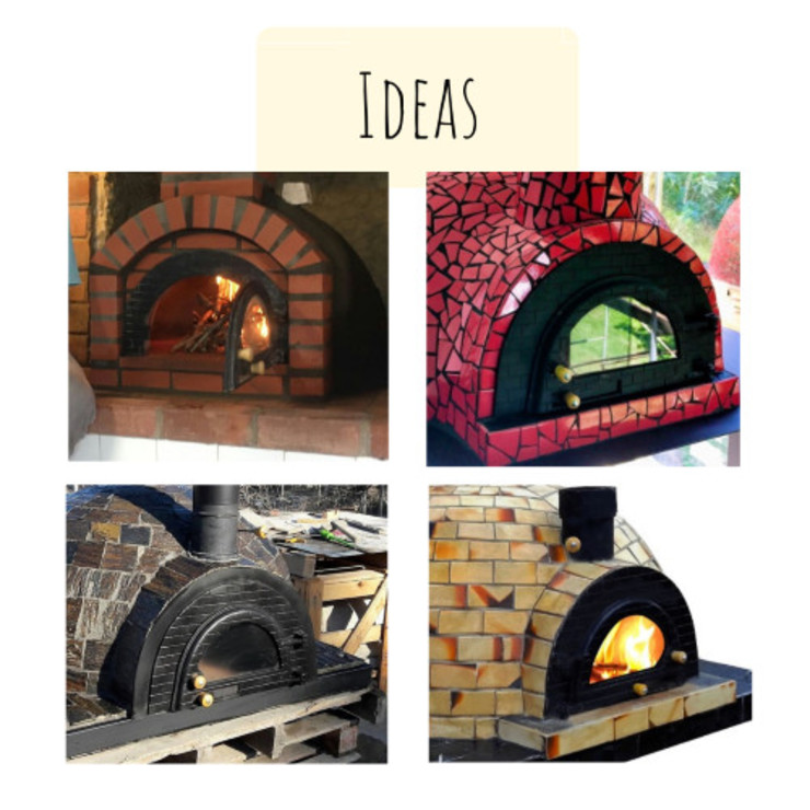 Ideas doors for wood fired pizza ovens by Dome Ovens® Mediterranean