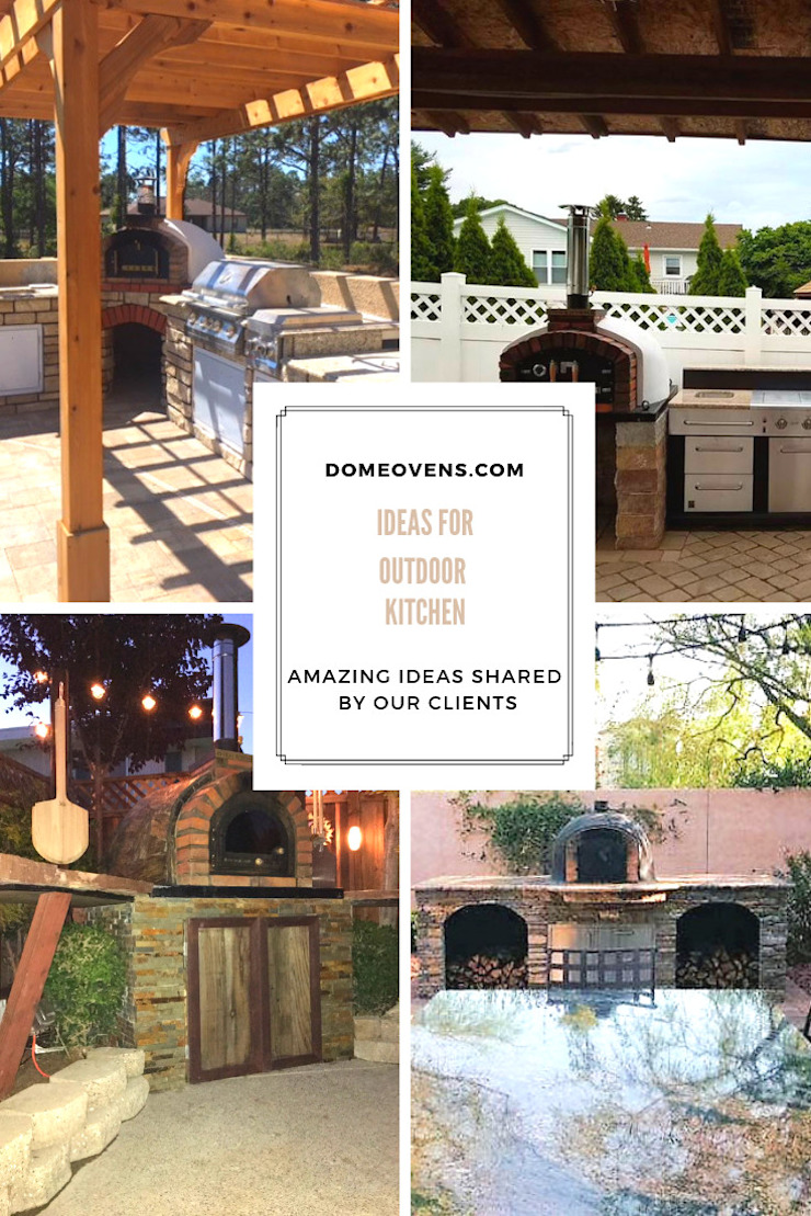 Ideas for outdoor kitchens by Dome Ovens® Mediterranean