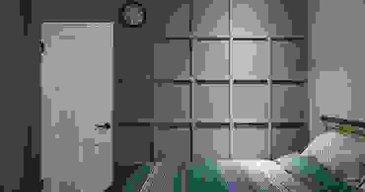 臥室造型牆:  臥室 by 顥岩空間設計